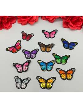 "12pc/Set 3"" Colorful Butterfly Patch, Iron On Butterfly Patch Embroidered Diy Shoes Jacket Fanny Pack Shirt Jacket Handbag Shoes by Etsy"
