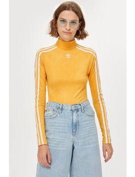 Three Stripe Suede Bodysuit By Adidas by Topshop