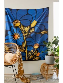 Modern Tropical For Deny Wildflower Garden Tapestry by Deny Designs