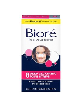 Biore The Original Deep Cleansing Nose Strips   8ct by 8ct