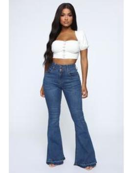 Shake It For Me Flare Jeans   Medium Blue Wash by Fashion Nova