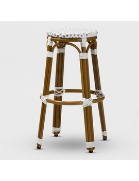 Joelle Indoor And Outdoor Stackable Bistro Bar Stool   Baxton Studio by Baxton Studio