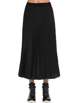 Pleated CrepÈ De Chine Skirt by Moncler