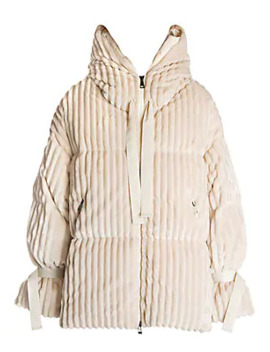 Loire Ribbed Puffer Coat by Moncler