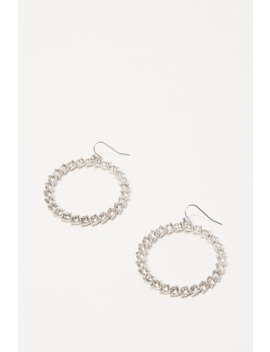 Faux Gem Hoop Earrings by Forever 21