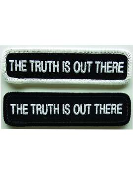 The Truth Is Out There Embroidered X Files Patch by Etsy