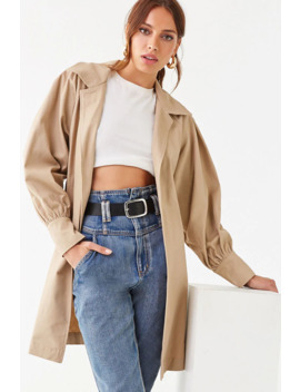 Notched Collar Trench Coat by Forever 21