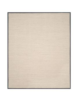Natural Fiber Marble/Dark Grey 8 Ft. X 10 Ft. Area Rug by Safavieh
