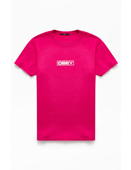 Obey Pink Depot T Shirt by Pacsun