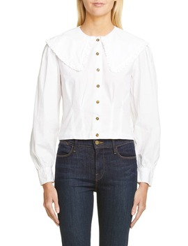 Statement Collar Poplin Shirt by Ganni