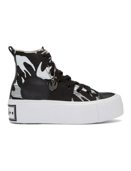 Black Plimsoll Platform High Sneakers by Mcq Alexander Mcqueen