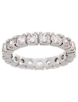 Nexte Jewelry Round Stone Serrated Eternity Band   Silver by Nexte Jewelry
