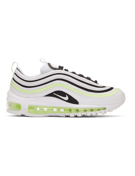 White & Black Air Max 97 Sneakers by Nike