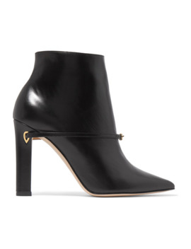 Nicoló 105 Leather Ankle Boots by Jennifer Chamandi