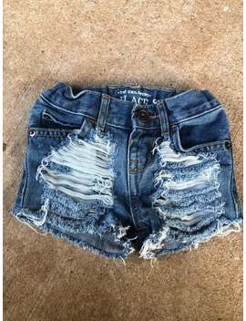 6 9 M The Childrens Place Distressed Shorts by Etsy