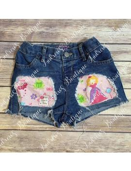 Once Upon A Time Distressed Shorts by Etsy