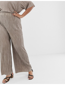 Another Reason Plus Relaxed Pants In Plisse Two Piece by Asos Brand