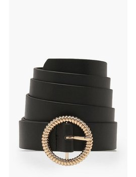 Plus Gold Twist Detail O Ring Belt by Boohoo