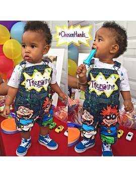 Rugrats Hand Painted Overalls Chuckie Finster Angelica Pickles Tommy Pickles Nickelodeon by Etsy