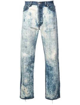 Straight Cut Washed Jeans by Maison Mihara Yasuhiro
