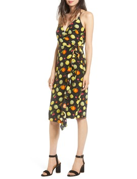 Iris Print Ruffle Wrap Sundress by Rails