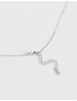 Design B Neck Chain With Pendant In Silver by Design B