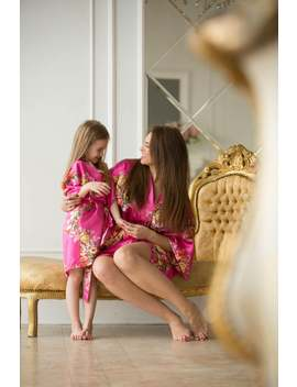 Mother Daughter Matching Robes, Mommy And Me Outfit, Spa Robe, Kids Robe, Mom &Amp; Daughter Floral Robes, , Matching Robes by Etsy