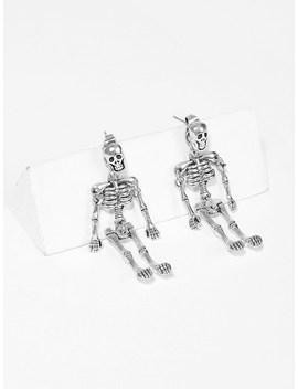 Halloween Skeleton Shaped Drop Earrings 1pair by Romwe