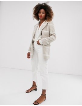 &Amp; Other Stories Check Jacket In Light Beige And Off White by & Other Stories