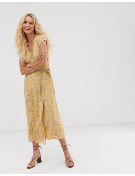 &Amp; Other Stories Wrap Dress In Yellow Floral Print by & Other Stories