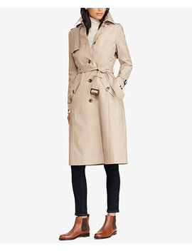 Belted Hooded Single Breasted Trench Coat by General