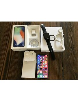 Apple I Phone X 256 Gb White Factory Unlocked A1865 Cdma Gsm & Free Smart Watch by Apple