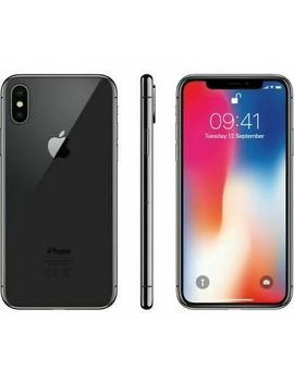 Apple I Phone X   64 Gb   Verizon + Gsm Unlocked T Mobile At&T 4 G Lte  Space Gray by Apple