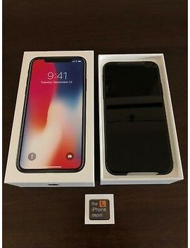 New Apple I Phone X 256 Gb Space Gray Factory Unlocked A1865 Gsm World Wide Lte 4 G by Apple