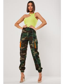 Khaki Camo Pocket Cargo Pants by Missguided