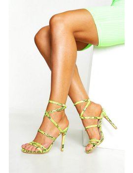 Strappy Snake Heels by Boohoo