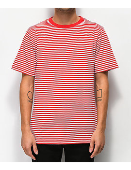 Zine Ranked Red &Amp; White Striped T Shirt by Zine