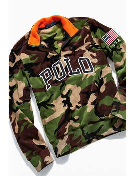 Polo Ralph Lauren Camo Half Zip Mock Neck Sweatshirt by Polo Ralph Lauren