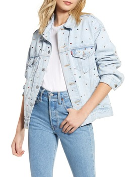 Crystal Embellished Dad Denim Trucker Jacket by Levi's®