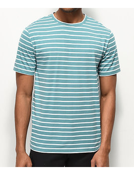 Zine Macro Blue &Amp; White Striped T Shirt by Zine