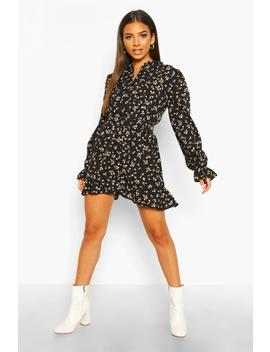Ditsy Floral Ruffle Playsuit by Boohoo