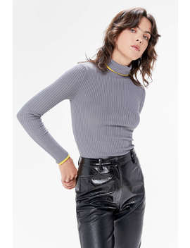 Uo Ribbed Turtleneck Sweater by Urban Outfitters