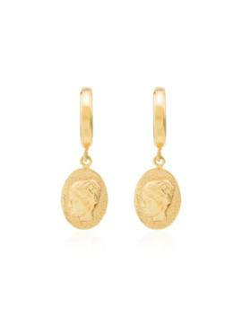 Hygieia Huggie Earrings by Hermina Athens