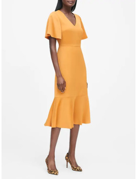 Flutter Sleeve Midi Dress by Banana Repbulic