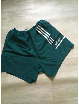 Vintage Adidas Equipment Colors Green Shorts by Etsy