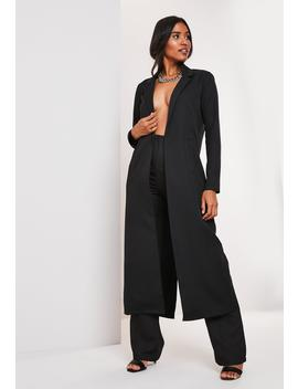 Black Co Ord Duster Jacket by Missguided