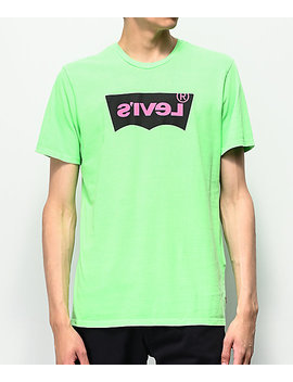 Levi's Housemark Neon Green T Shirt by Levi's