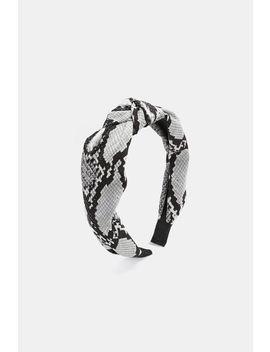 Snakeskin Print Twisted Headband by Ardene