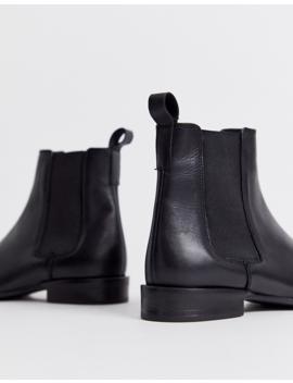 Asos Design April Leather Chelsea Boots In Black by Asos Design