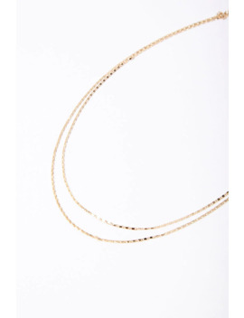 Layered Box Chain Necklace by Forever 21